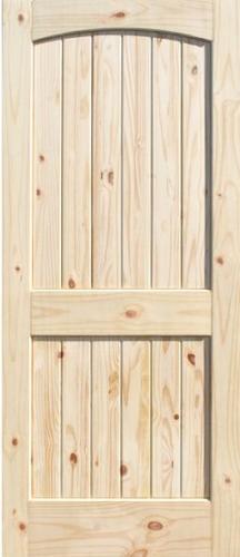 2 Panel Knotty Pine Archtop Plank.JPG